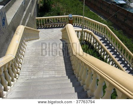 stairs leading downwards