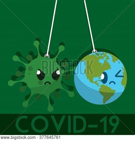 Coronavirus Medical Poster. Covid-19 Poster. Virus Illustration - Vector