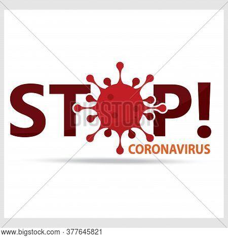 Coronavirus Poster. Covid-19 Poster. Virus Illustration - Vector