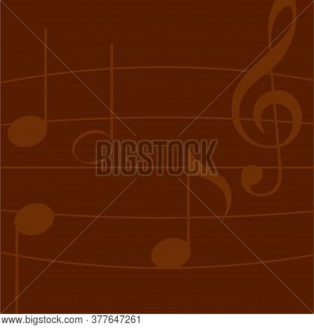 Musical Notes Background. Music Symbol - Vector Illustration