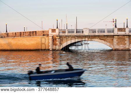 Fishing Boat In Taranto City. Italy, Puglia
