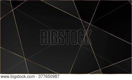 Black Premium Polygon Pattern. Elegant Dark Platinum Chic Shapes Poster Rich Silver Vip Geometric Ce