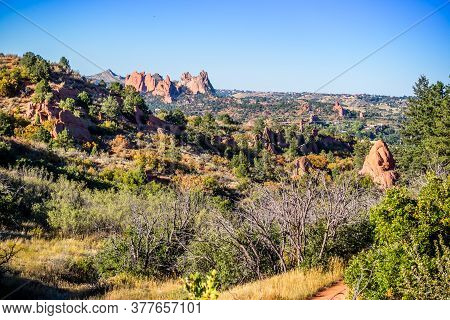Rocky Landscape Scenery Of Colorado Springs, Colorado