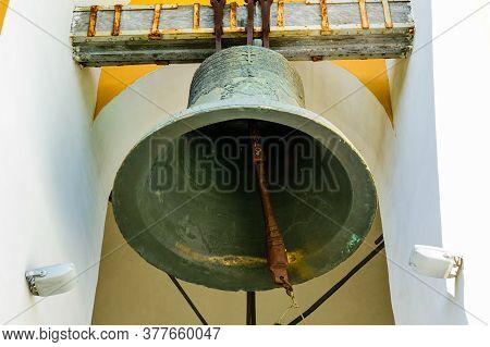 Big Bell On Bell Tower Of Church