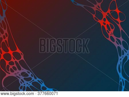 Abstract Electromagnetic Field Fluid Vector Background. Energy Flowing Futuristic Concept. Curve Lin