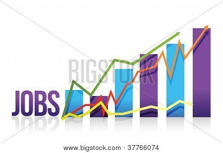 Jobs Business Color Graph Illustration Design
