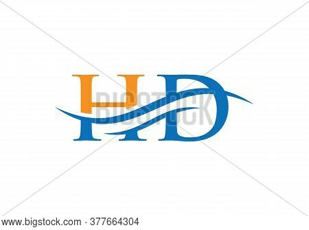 Hd Letter Linked Logo For Business And Company Identity. Creative Letter Hd Logo Vector Template.