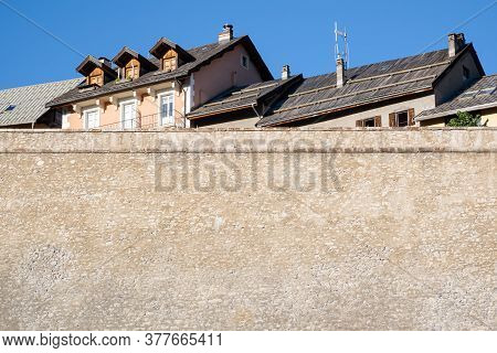 Briancon, France - July 7, 2020: Briancon Is A Commune In The Hautes-alpes Department In The Provenc