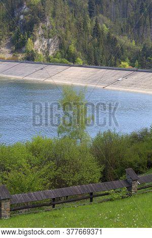 Niedzica Dam; Great Water Dam. It Is Located In The Pieniny; Dams The Waters Of The Dunajec; Creatin