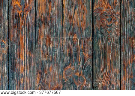Rustic Reclaimed Wood Texture Background. Vintage Wooden Table