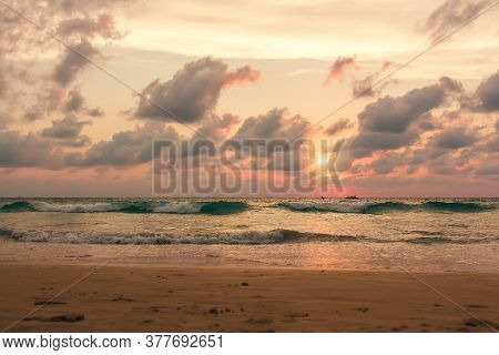 Picturesque View Of Andaman Sea In Phuket Island, Thailand. Seascape. Tropical Exotic Travel.