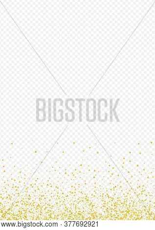 Golden Shards Festive Transparent Background. Glamour Confetti Banner. Yellow Shine Paper Design. Gl