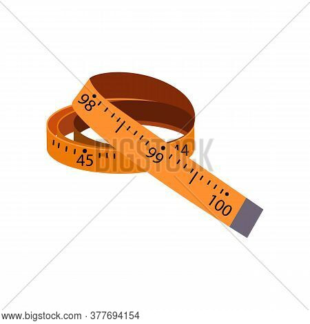 Tailor Measuring Tape. Professional Sewing Tool Of Dressmaker. Can Be Used For Topics Like Dressmaki