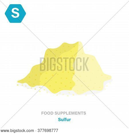Vector Flat Isolated Icon Of Food Supplements -sulfur