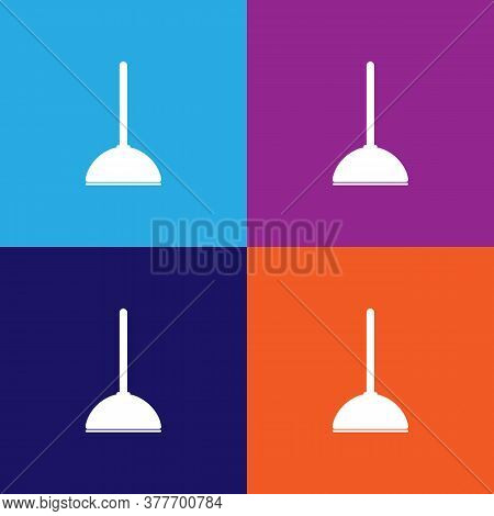 Plunger Icon. Bathroom And Sauna Element Icon. Signs, Outline Symbols Collection Icon For Websites,
