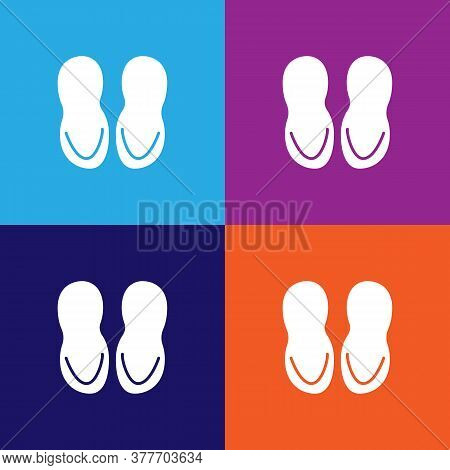 Bathroom Slippers Icon. Bathroom And Sauna Element Icon. Signs, Outline Symbols Collection Icon For
