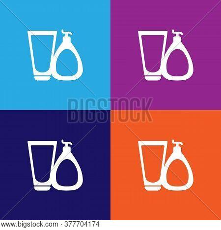 Set Of Creams Icon. Bathroom And Sauna Element Icon. Signs, Outline Symbols Collection Icon For Webs