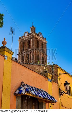 Our Lady Of The Candelaria Church In Zafra. Badajoz. Spain. Europe. Parish Of The Candelaria