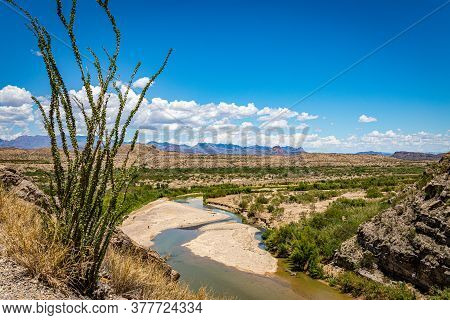 A View Of The Rio Grande And Big Bend National Park In Texas From The United States Side Of Santa El