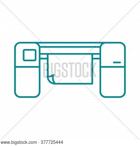 Large Format Printer Linear Icon. Thin Line Illustration. Printing Machine. Contour Symbol. Vector I