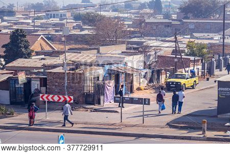 Johannesburg, South Africa, 21 July - 2020: Informal Settlement In South Africa