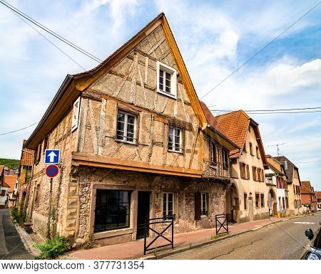 View Of Traditional Houses In Obernai - Bas-rhin, France