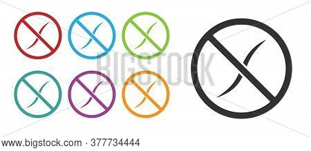 Black Anti Worms Parasite Icon Isolated On White Background. Set Icons Colorful. Vector