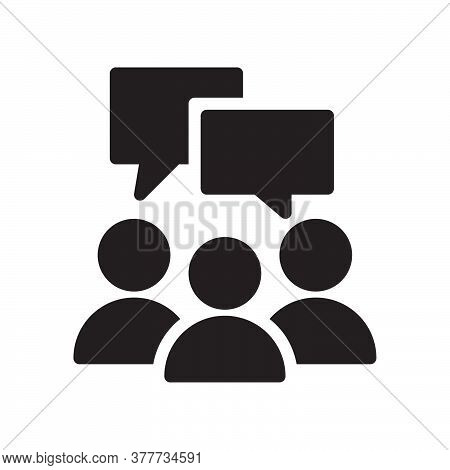 Speaking People Icon. Flat Style Design. Vector Graphic Illustration. Icon For Website Design, App,