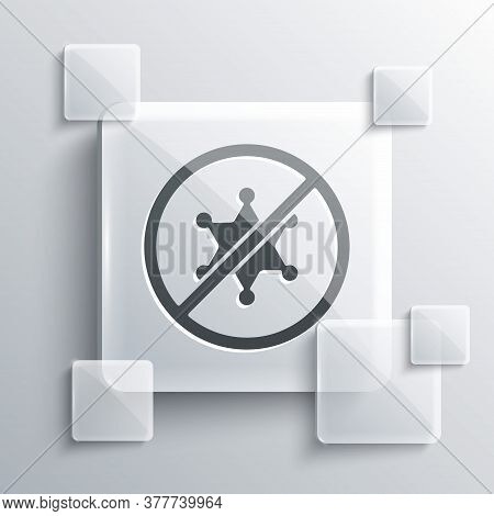 Grey Protest Icon Isolated On Grey Background. Meeting, Protester, Picket, Speech, Banner, Protest P