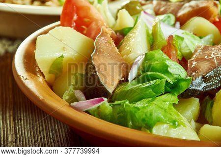 Palermo Smoked Trout Sicilian Salad - Insalata Di Mare -  Robust Sicilian Salad