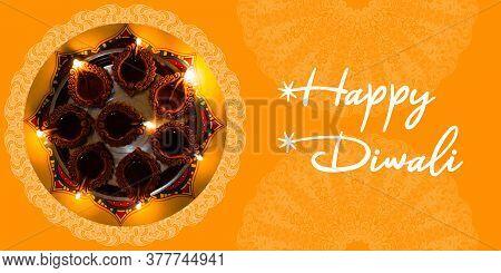 Diwali Festival - Creative Banner Or Poster Of Diwali. Happy Diwali Festival Greeting Or Poster Desi