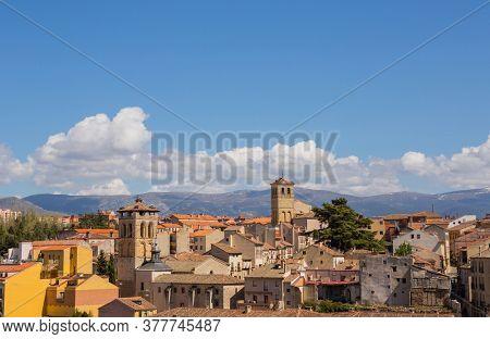 Segovia, Spain - April 24, 2019: The old town of Segovia and the Cathedral, Segovia, Spain
