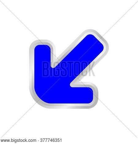 Blue Arrow Pointing Left Down, Clip Art Blue Arrow Icon Pointing For Left Down, Arrow Symbol Indicat