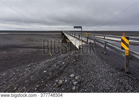 Southwestern Iceland - 23 August 2015: View Of The Skeidara Bridge. Once The Longest Span In Iceland