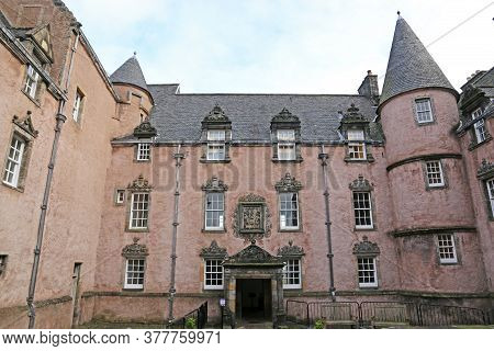 Pink Building Of Argyll's Lodging In Stirling, Scotland