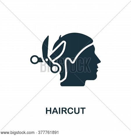Haircut Icon. Simple Element From Beauty Salon Collection. Creative Haircut Icon For Web Design, Tem