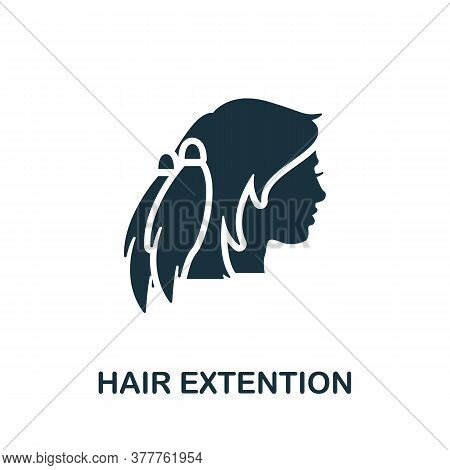 Hair Extension Icon. Simple Element From Beauty Salon Collection. Creative Hair Extension Icon For W