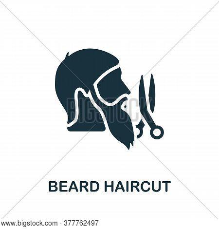 Beard Haircut Icon. Simple Element From Beauty Salon Collection. Creative Beard Haircut Icon For Web