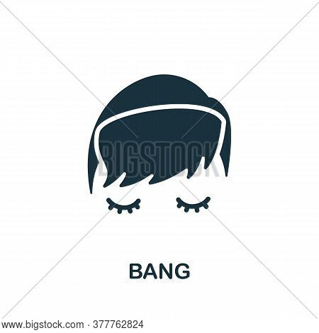 Bang Icon. Simple Element From Beauty Salon Collection. Creative Bang Icon For Web Design, Templates
