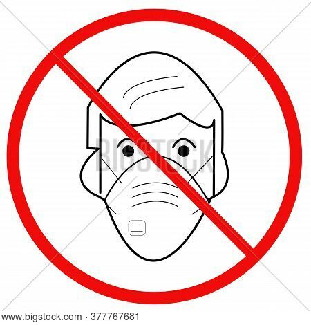 Anti-mask Pictogram Wearing Masks That Offer No Covid-19 Protection