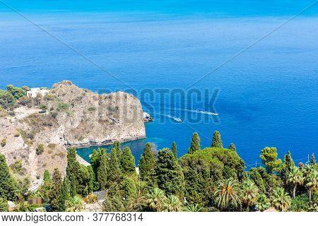 Sea View From Taormina, Sicily, Italy.