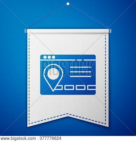 Blue Infographic Of City Map Navigation Icon Isolated On Blue Background. Mobile App Interface Conce