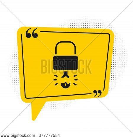 Black Key Broke Inside Of Padlock Icon Isolated On White Background. Padlock Sign. Security, Safety,