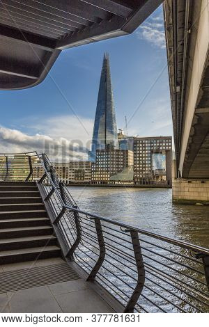 July 2020. London. The Shard And The River Thmaes In London