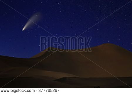 Night Sky Landscape Image of the Stars in the Universe