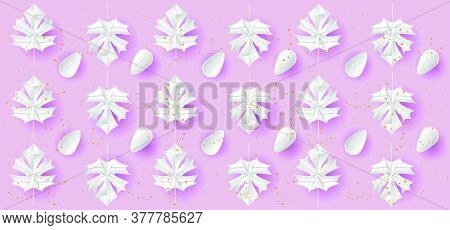 Gradient Canadian Floral Pattern Background For Wallpaper And Decoration