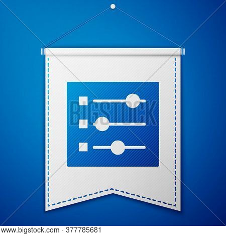 Blue Car Settings Icon Isolated On Blue Background. Auto Mechanic Service. Repair Service Auto Mecha