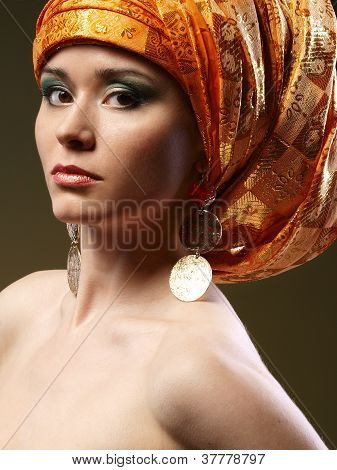 Girl With A Rich Turban