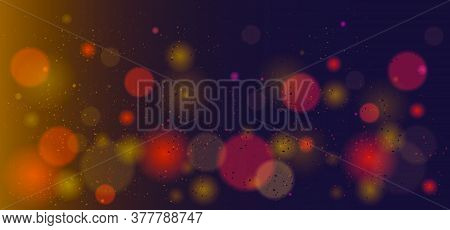 Shiny Light Bokeh Effect Design Vector Background And Decoration