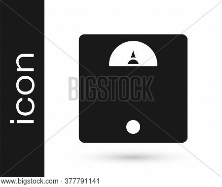 Grey Bathroom Scales Icon Isolated On White Background. Weight Measure Equipment. Weight Scale Fitne
